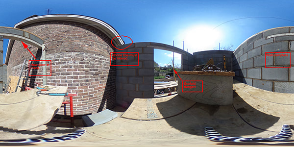 360 degree photo animation of construction site