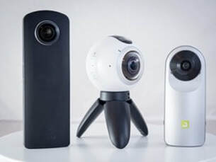 Ricoh Theta S, Samsung 360 and LG 360 camera